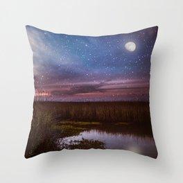 Goodnight, Louisiana Throw Pillow