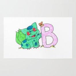 B is for Bulb A Saur Rug
