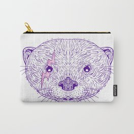 Otter Head Lightning Bolt Drawing Carry-All Pouch