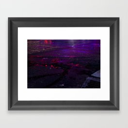Spilled Lights Framed Art Print