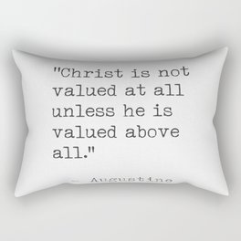Augustine quote about Christ Rectangular Pillow