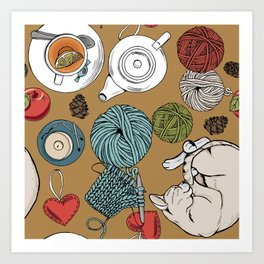 home cosiness Art Print