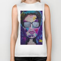 sunglasses Biker Tanks featuring Sunglasses by Wendistry