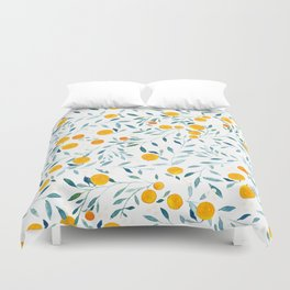 Orange Tree Duvet Cover