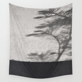 Grey Tree Branch Shadows and Texture Wall Tapestry