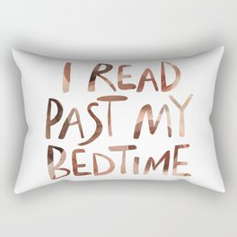 I read past my bedtime - Earthy colors Rectangular Pillow