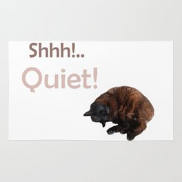 Shhh! Gattology Series Rug