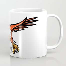 Bald Eagle Swooping Front Mascot Coffee Mug