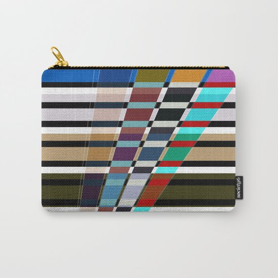 Abstract stripes . Oblique stripes 1 . Carry-All Pouch