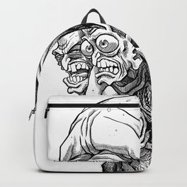Crazy Angry Eyes Backpack