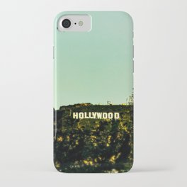 Hollywood Sign with Blimp iPhone Case