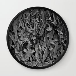 Alien Plant Life Wall Clock