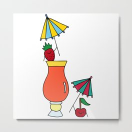 Fruity Cocktail Party  Metal Print