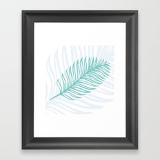 Palm Leaf in Blue and Green Framed Art Print