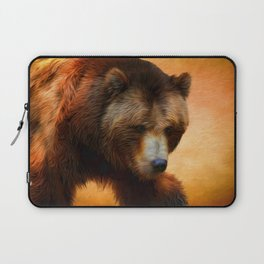 Grizzly Bear Painted Laptop Sleeve