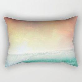 Sunset on the waves Rectangular Pillow