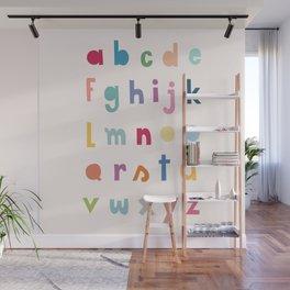 ABC alphabet art Wall Mural