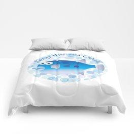 Keep the Sea Clean_Globefish Comforters
