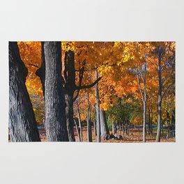 Autumn Golden Leaves Rug
