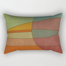 """""""Colorful Abstract Landscape"""" Rectangular Pillow"""