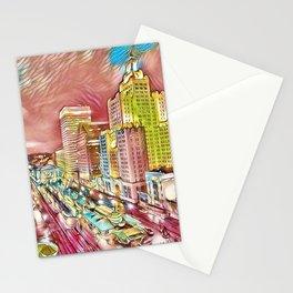 Downtown Providence, Rhode Island Portrait by Jeanpaul Ferro Stationery Cards