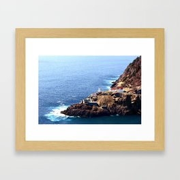 Newfoundland Canadian National Historical Site Fort Amherst and WWII bunkers Framed Art Print