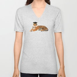 Graduation Tiger Unisex V-Neck