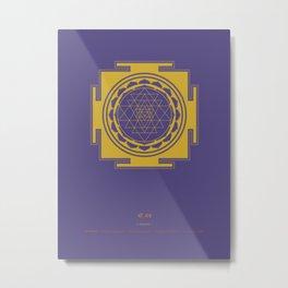 Sri Yantra Mandala Metal Print