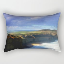 Our land is girt by Sea Rectangular Pillow