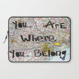 Where You Belong-Houston Laptop Sleeve