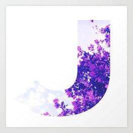 """""""J"""" Initial Tree Art Print"""