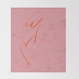 Original W&V in pink Throw Blanket