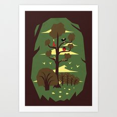 R is for Rabbit Art Print
