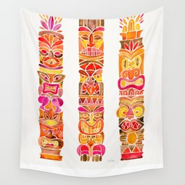 Tiki Totems – Fiery Palette Wall Tapestry