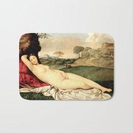 NUDE ART: Sleeping Venus by Giorgione Bath Mat