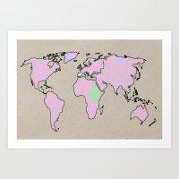 World Tipica Traje Poster Art Print