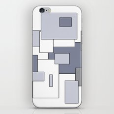 Squares - gray, purple and white. iPhone & iPod Skin