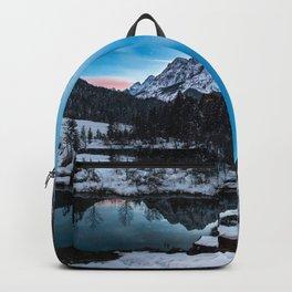 Zelenci springs at dusk Backpack