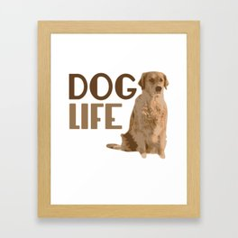 Dog Life Labrador Retriever Framed Art Print