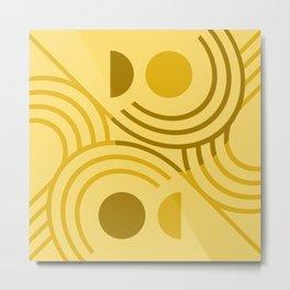 Golden Lion Absract Geometric Metal Print