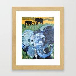 Sunny Safari - Panel 2 Framed Art Print