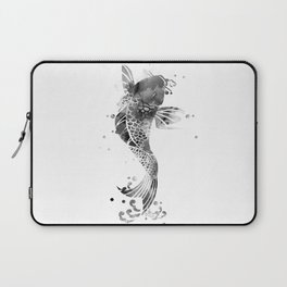Koi Fish Black And White Laptop Sleeve