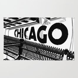 Cities in Black - Chicago Rug