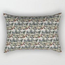 Bat Eared Fox (Pearl Grey) Rectangular Pillow