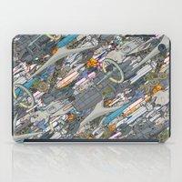 battlestar galactica iPad Cases featuring Battlestar by Guy Warley