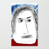 karl Canvas Prints featuring Karl by Chicken Wolf