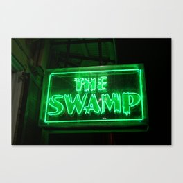 The Swamp Neon Sign New Orleans Photograph Canvas Print