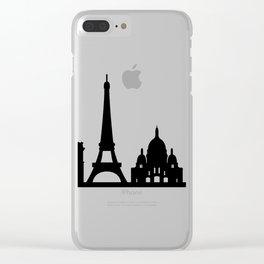 paris skyline Clear iPhone Case