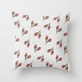 Cherry bud watercolor pattern Throw Pillow