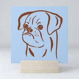 Petit Brabancon (Blue and Brown) Mini Art Print